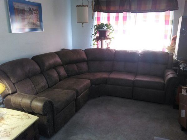 Nice Sectional Couch With Two Reclining End Seats . 1 Year