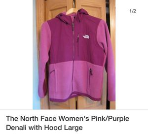 The North Face Women's Pink/Purple Denali with Hood Large