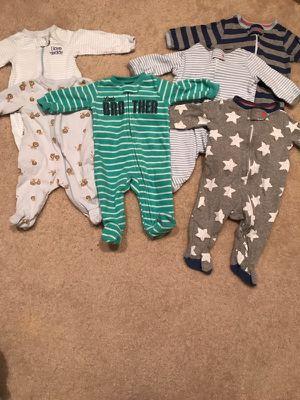 Newborn baby boy sleepers