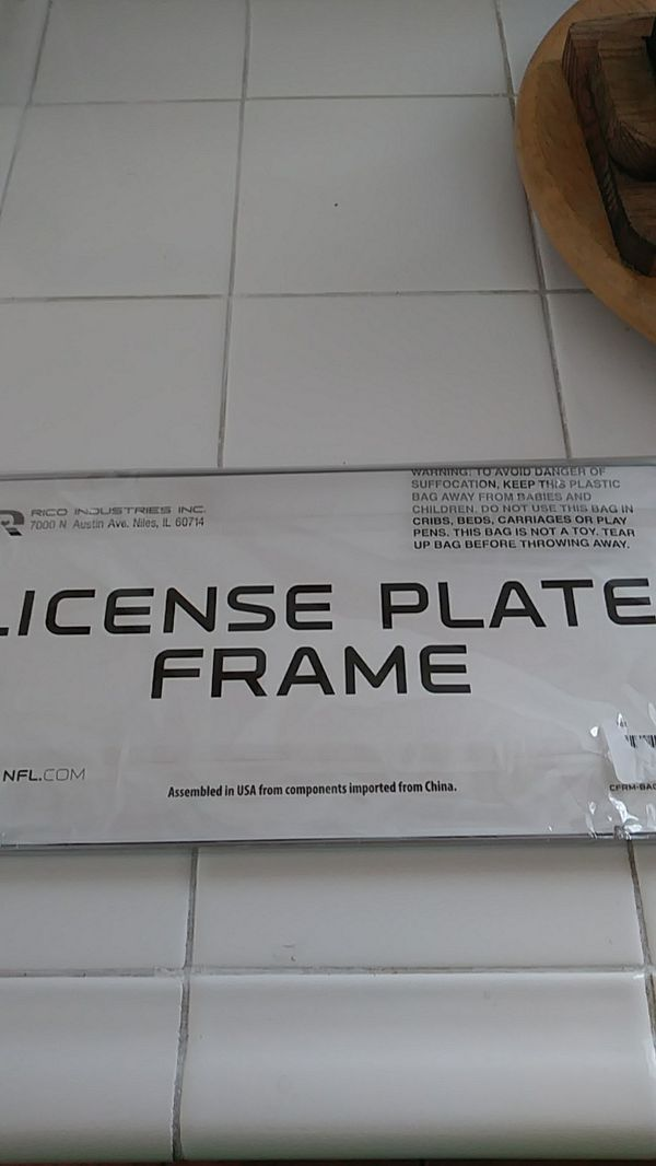 San Francisco 49ers license plate frame (Sports & Outdoors) in ...