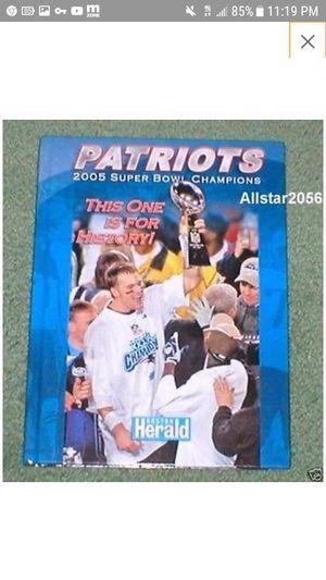 Patriots 2005 Superbowl Win Collectors Book