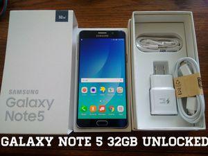 Galaxy Note 5 32GB UNLOCKED (Like New) Blue
