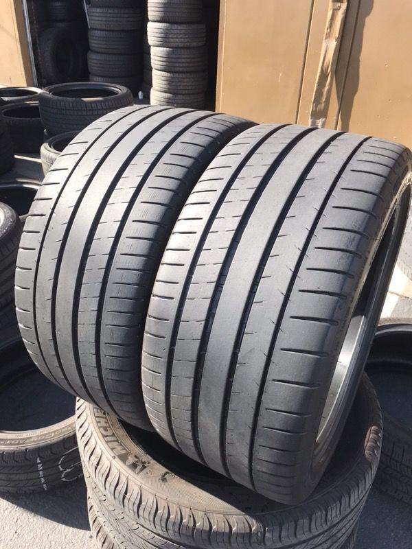 2 used tires 275 35r19 michelin pilot sport tires 275 35. Black Bedroom Furniture Sets. Home Design Ideas