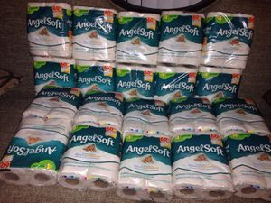 20 Packs Angel Soft Bathroom Tissue Each pack 4 Regular Rolls. Please See All The Pictures