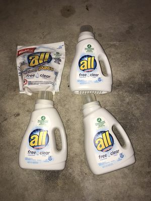 New bottles of All detergent and 1 mighty pack