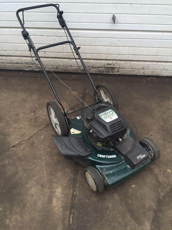 Craftsman 6 0 Horsepower Lawnmower Self Propelled Lawn