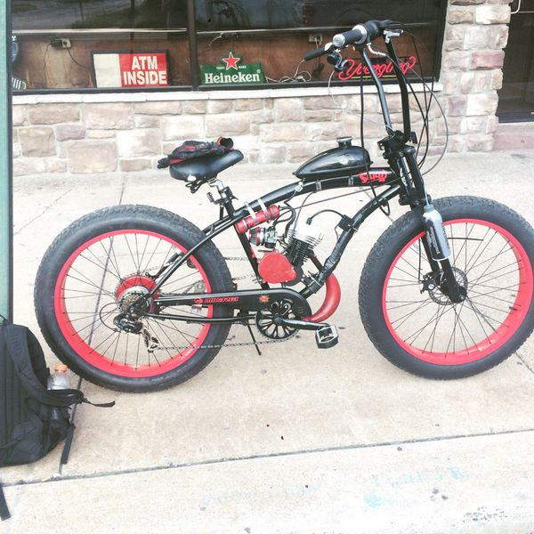 fat tire motorized bike 6680cc - Motorized Bicycle Frame