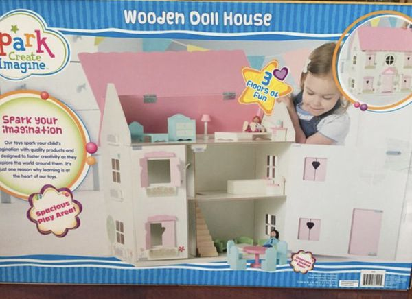 House Toys For Girls : Girls wooden doll house new in box games toys in lodi ca