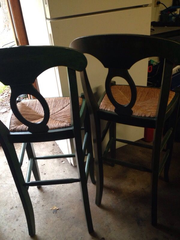Green wood stools (Furniture) in Dallas, TX - OfferUp