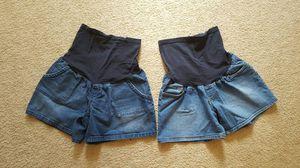 2 size Large Maternity Shorts