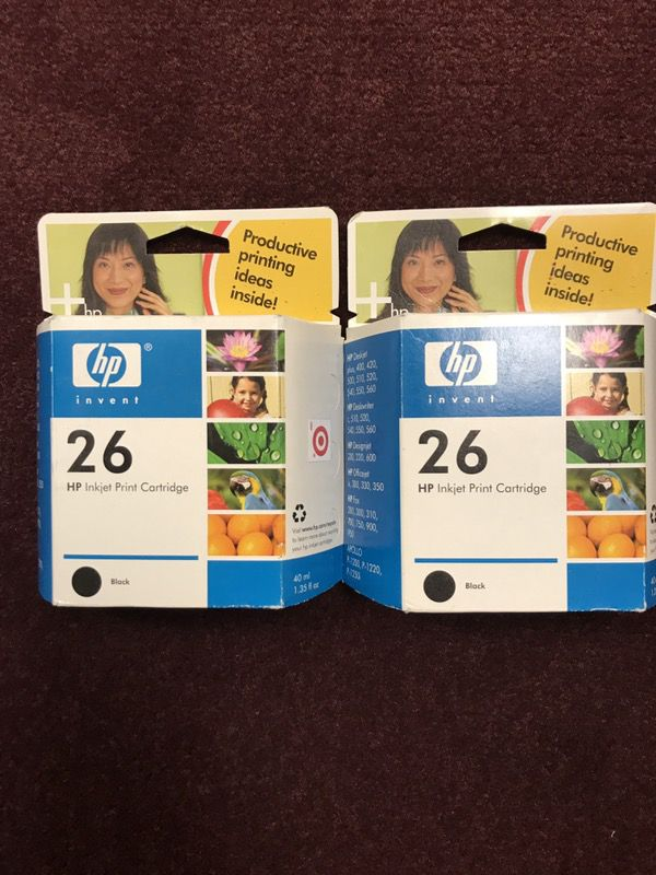 HP 26 Toner---2 Singles, Never Used, 10.00