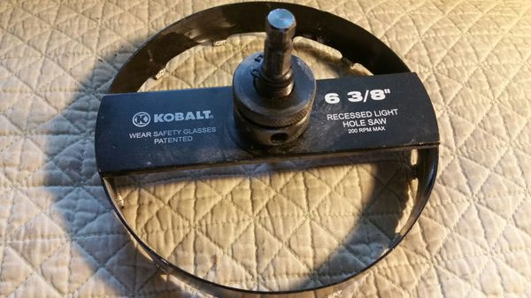 Kobalt 6 38 recessed light hole saw bit general in laurel md kobalt 6 38 recessed light hole saw bit aloadofball Choice Image