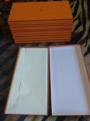 """Brand New 6 Empty Authentic Hermes Paris 15"""" X 5"""" X 7/8"""" Boxes"""