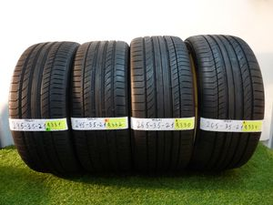 G165 245 35 21 and 265 35 21 Continental ContiSportContact Tesla Model S 4 used tires 90% life
