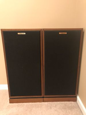 Klipsch Forte's. Original Matched Pair with stands and Crites Upgrades