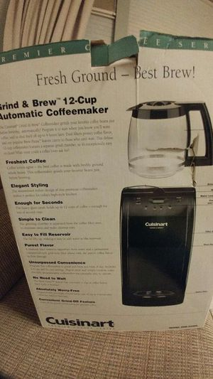 Cuisinart coffee grinder and maker