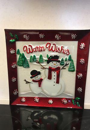 Warm Wishes Snowman Plate