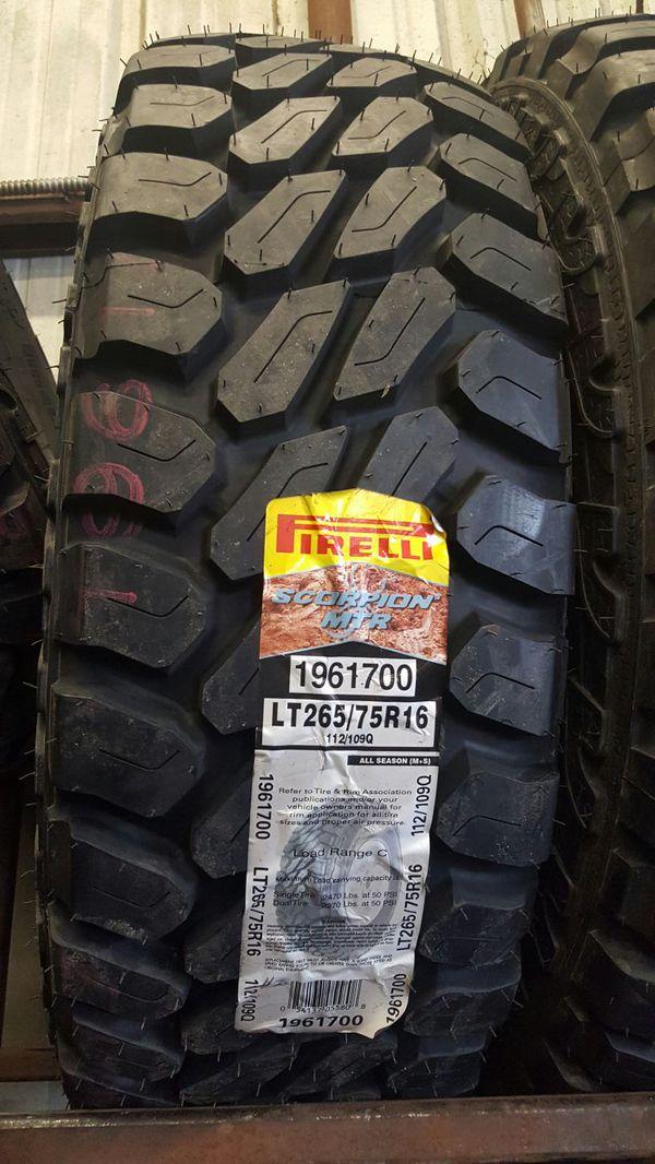 New Pirelli Scorpion Mtr 265 75 16 Auto Parts In San