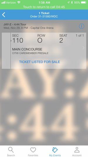 Jay Z Ticket