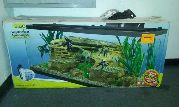 55 gallon aquarium w led lighting pet supplies in seatac for 55 gallon fish tank kit