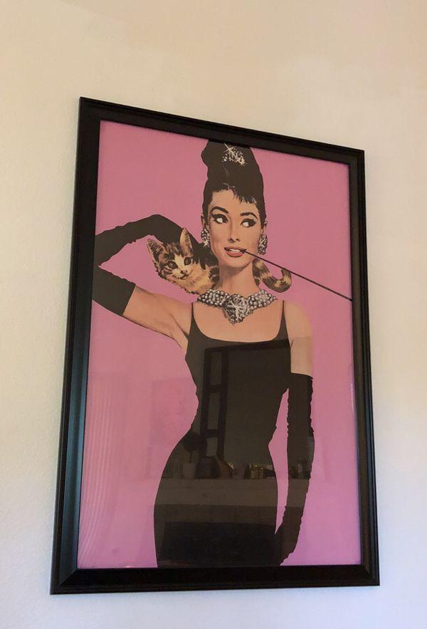 Audrey Hepburn framed picture (Household) in Tampa, FL