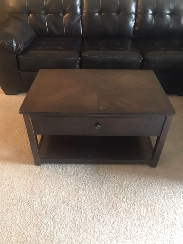 Ashley furniture side table with retractable top Furniture in