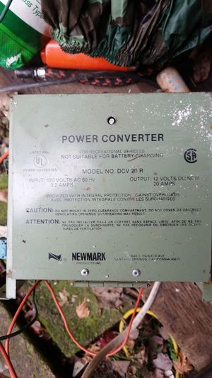 Power converter 120 in 12 volt 20 amp dc out
