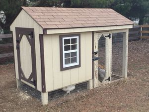 Chicken Coop 4x8 Combination w/ Covered Run