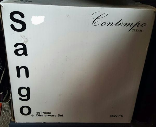 BRAND NEW IN BOX Sango Contempo Cream 16-piece Dinnerware Set ...