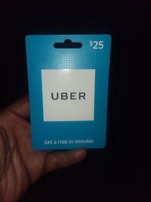 Uber $25 card