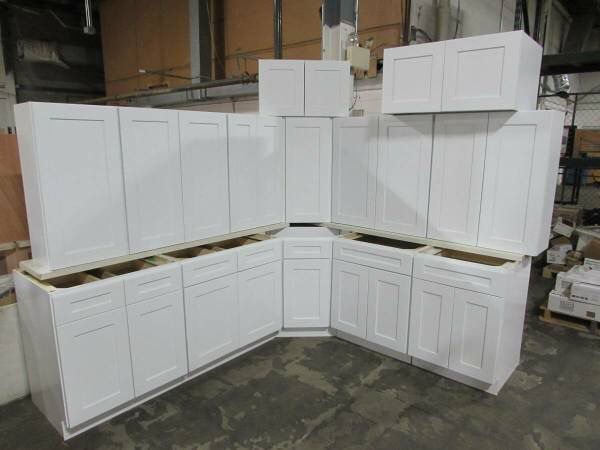 Brand New Overstock Leftover White Full Wood Shaker Kitchen ...