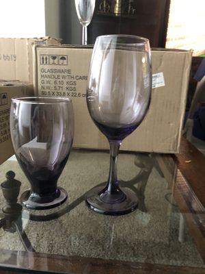Wedding & Quinceañera wineglass and water goblet