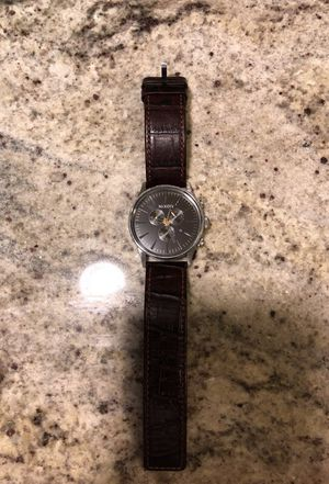 Nixon Sentry Chronograph Leather Watch