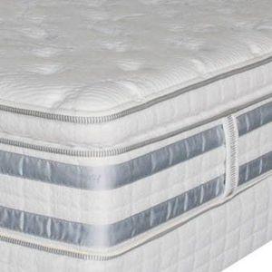 King Serta iSeries Euro plush pillowtop mattress set