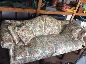 Antique horsehair couch