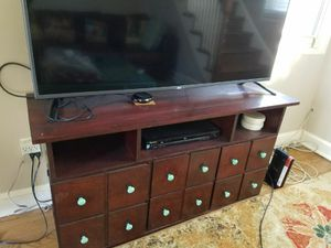 Solid wood TV stand with storage