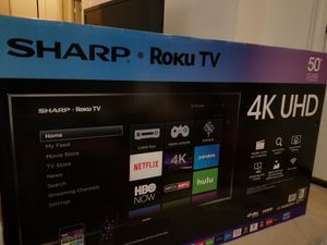 "Sharp 50"" 4K Roku Ultra HD LED TV (Brand New)"