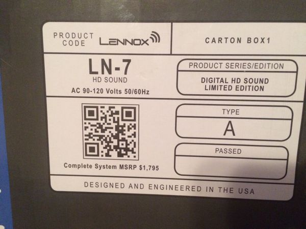 lennox ln 7. lennox ln-7 pro series high def home theater package ln 7