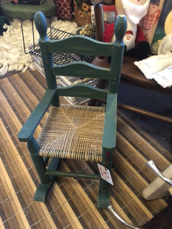 Antique Doll Rocks Rocking Chair