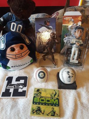 Mariners and Seahawks memorabilia