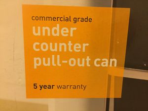 Space saver under the counter pull out can (2)