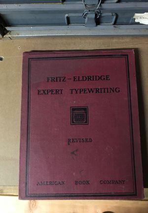 Fritz-Eldridge Expert Typewriting Book