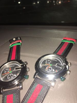 Black, green and red Gucci watches 50$ each
