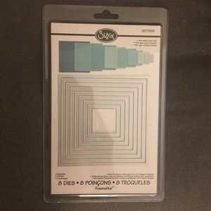 Sizzix Framelit Square Dies - 8 sizes NEW