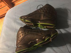 Jordan black n green 13s