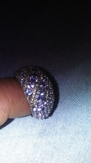 Sterling silver band with tanzanite stones
