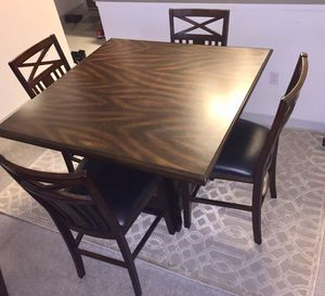 Good condition used Dinner table , TV stand , Coffee table with one end table and 7.5 / 5.3 nice carpet