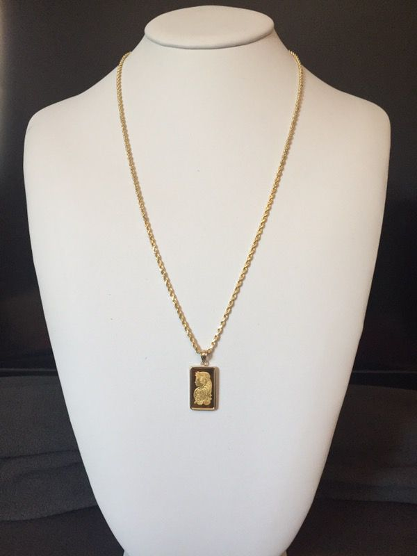 14k solid gold rope chain 24 25mm 111 grams with 24k gold 5 14k solid gold rope chain 24 25mm 111 grams with 24k gold 5 gram sciox Gallery