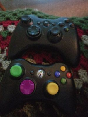 2 modded xbox 360 controllers. One has 27 mods other has 10. Take $50 for both