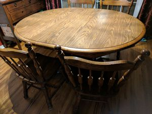 Dining table and 4 chairs for sale  Tulsa, OK